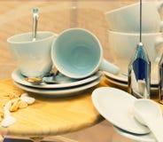 Tazas de café vacías Fotografía de archivo libre de regalías