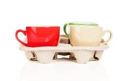 Tazas de café a ir Imágenes de archivo libres de regalías