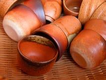 Tazas de cerámica Imagenes de archivo