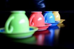 Tazas de cerámica del coffe Imagen de archivo libre de regalías