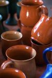 Tazas de cerámica Fotos de archivo libres de regalías