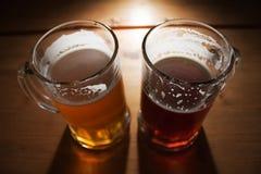 Tazas de cerveza Imagen de archivo