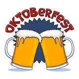 Tazas de cerveza de Oktoberfest Imagenes de archivo