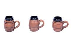 Tazas de cerveza decorativas Foto de archivo libre de regalías