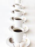 Tazas de coffe Foto de archivo