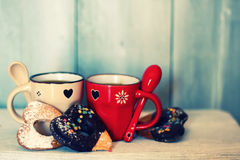 Tazas de Coffe Fotos de archivo libres de regalías