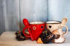 Tazas de Coffe Imagen de archivo libre de regalías