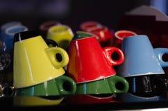 Tazas de Coffe Imágenes de archivo libres de regalías