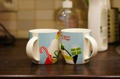 Tazas de Coffe Foto de archivo libre de regalías