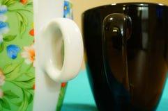 Tazas de Coffe Fotografía de archivo
