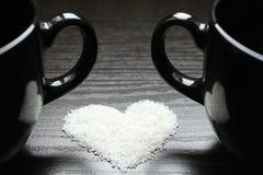 Tazas de Coffe, fecha romántica Foto de archivo