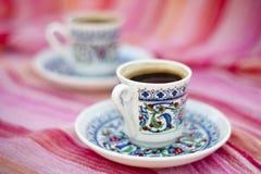 Tazas de coffe turco Imágenes de archivo libres de regalías