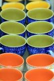 Tazas de Colorfull Imagen de archivo libre de regalías