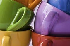 Tazas de Colorfull foto de archivo