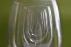Tazas de cristal vacías Fotos de archivo