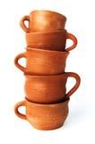 Tazas de la arcilla Foto de archivo
