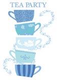 Tazas de la fiesta del té Imágenes de archivo libres de regalías
