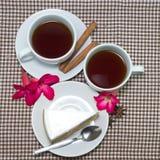 Tazas de la mañana de té Fotos de archivo libres de regalías