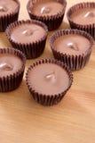 Tazas de la mantequilla de cacahuete Fotografía de archivo