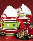 Tazas de la Navidad Fotos de archivo