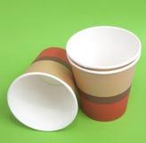Tazas de papel Foto de archivo libre de regalías