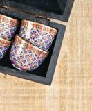 Tazas de té árabes Imagen de archivo