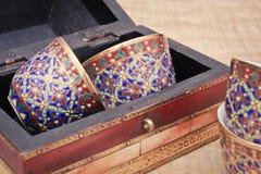 Tazas de té árabes Fotografía de archivo libre de regalías