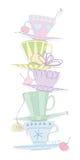 Tazas de té stock de ilustración