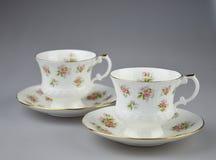 Tazas de té Foto de archivo