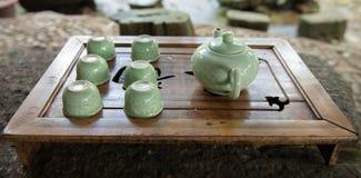 Tazas de té Fotos de archivo libres de regalías