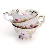 Tazas de té antiguas Fotos de archivo libres de regalías
