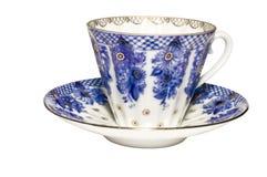 Tazas de té azules imagenes de archivo