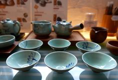 Tazas de té chinas fotografía de archivo