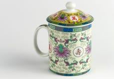 Tazas de té chinas decorativas Fotos de archivo libres de regalías
