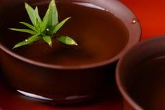 Tazas de té chinas y té fresco Imagen de archivo