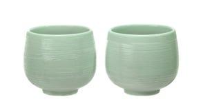 Tazas de té de Japón imágenes de archivo libres de regalías