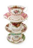 Tazas de té del vintage Fotos de archivo