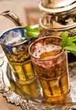 Tazas de té marroquíes imagen de archivo libre de regalías