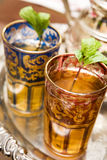 Tazas de té marroquíes Imágenes de archivo libres de regalías