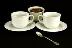 Tazas de té y azúcar Imagen de archivo libre de regalías