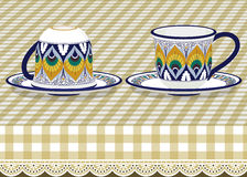 Tazas de té Foto de archivo libre de regalías