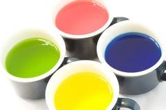 Tazas de tinte Imagen de archivo libre de regalías