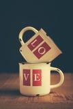 Tazas del amor Imagen de archivo