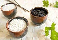 Tazas del arroz Fotos de archivo