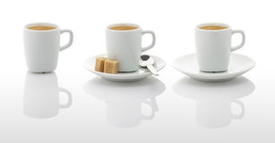 Tazas del café con leche (con las trayectorias del picosegundo) Foto de archivo libre de regalías