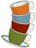 Tazas del café express Fotografía de archivo libre de regalías