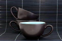 Tazas del café express del té Imagenes de archivo