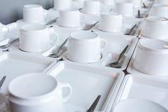Tazas del café o de té para el fondo Foto de archivo