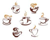 Tazas del café y de té Fotografía de archivo libre de regalías