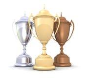 Tazas del campeonato fotografía de archivo libre de regalías